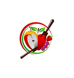 healthy food restaurant vector image