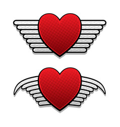 heart with wings vector image