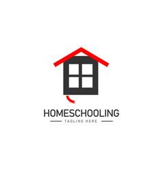Home schooling template design vector