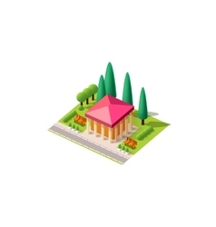 Isometrics administrative building vector