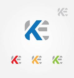 Ke letter logo template vector