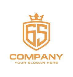 Letter gs initial logo luxury logo design vector