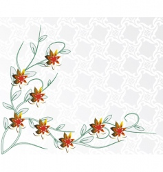 light background with red flowers vector image