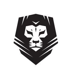 lion head - logo template creative vector image