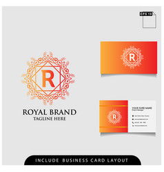 logo design royal brand modern concept with vector image