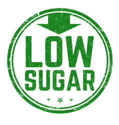 low sugar sign or stamp vector image