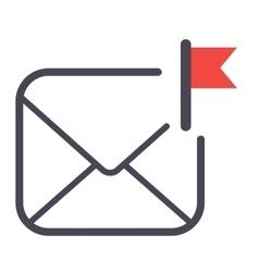 Mail icon symbol vector image