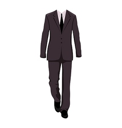 Male business suit design elements vector