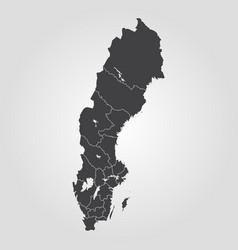 Map sweden vector