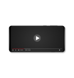 Mobile video player vector