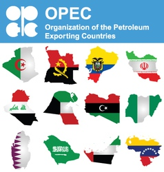 OPEC Countries vector image