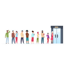 Open door queue trending people characters vector