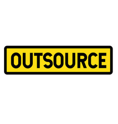 outsource sign on white vector image