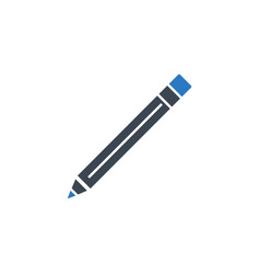 pencil related glyph icon vector image