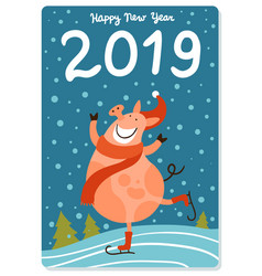 piggy new year vector image