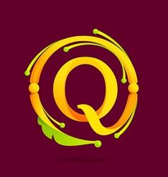 Q letter monogram design elements vector