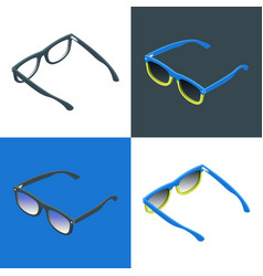 reading glasses and sunglasses vector image