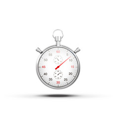 realistic image of a sports stopwatch symbol vector image