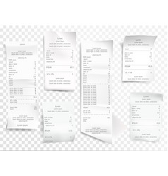 Receipts or payment checks vector
