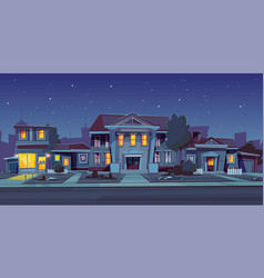 rental of house estate night background vector image