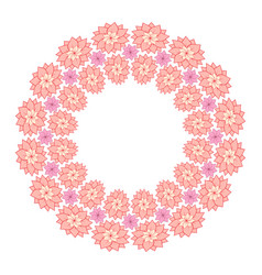 round frame of delicate lotus flowers and a place vector image