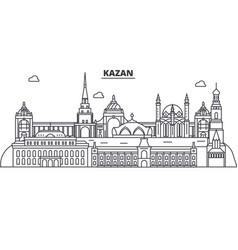 Russia kazan architecture line skyline vector