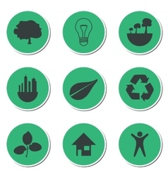 Set of green technology icons vector