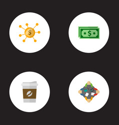 set of projects icons flat style symbols with vector image