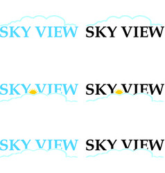 Sky view logo vector