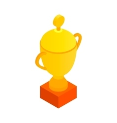 Sports cup isometric 3d icon vector image