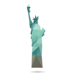 Statue of Liberty abstract isolated vector image