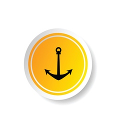 sticker of anchor icon vector image