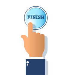 Success concepticon finish button isolated on vector