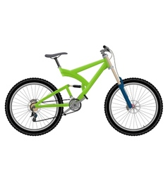 Two suspension mountain bike vector