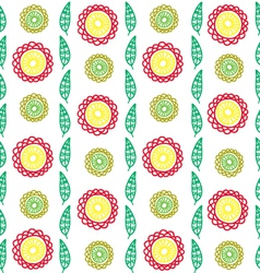 vertical flower pattern vector image