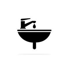 wash basin icon concept for design vector image