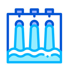 water hydraulic engineering station icon vector image