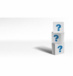 white cube blocks with sign question symbol vector image