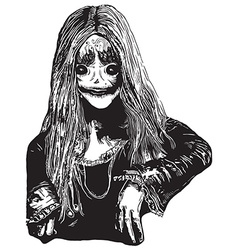 Zombie Girl An hand drawn vector