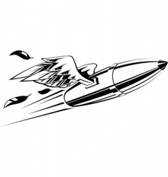 Bullet with wings vector