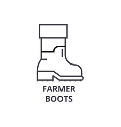 farmer boots line icon outline sign linear vector image vector image