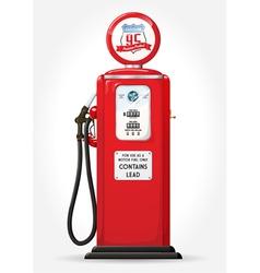 gas pump retro vector image vector image