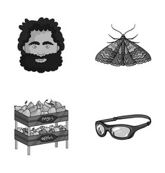 history trade and other monochrome icon in vector image