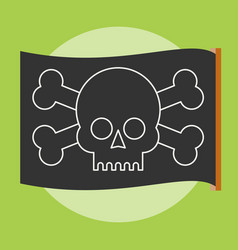 pirate flag jolly roger vector image