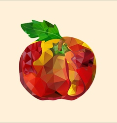 polygonal red apple vector image vector image