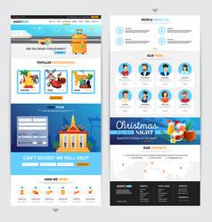 travel agency web page design vector image vector image