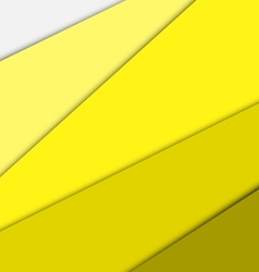 Yellow overlap layer paper material design vector image