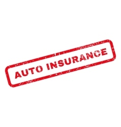 Auto Insurance Text Rubber Stamp vector image