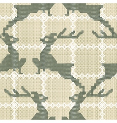 deers embroidery vector image vector image