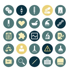 Flat design icons for medical science vector image